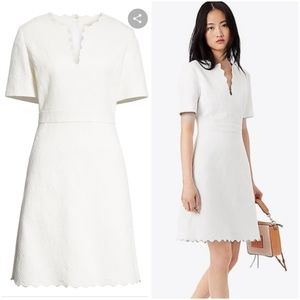 Tory Burch Jacqued Scalloped Edge Dress